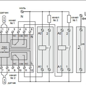 подключение терморегулятора через контактор